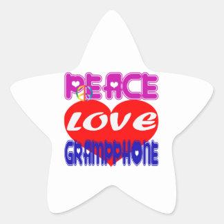 Peace Love Gramophone Sticker