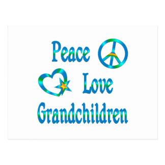 Peace Love Grandchildren Postcard
