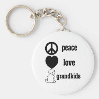 Peace Love & Grandkids Key Ring
