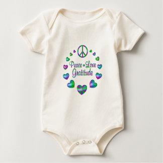Peace Love Gratitude Baby Bodysuit