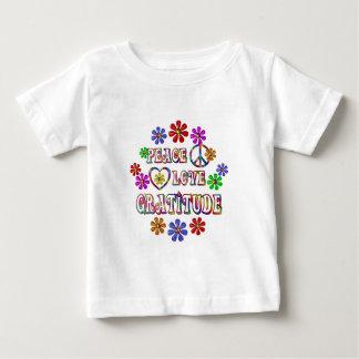 Peace Love Gratitude Baby T-Shirt