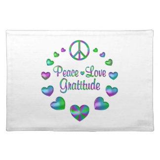 Peace Love Gratitude Place Mats