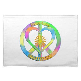 Peace Love Gratitude Placemat