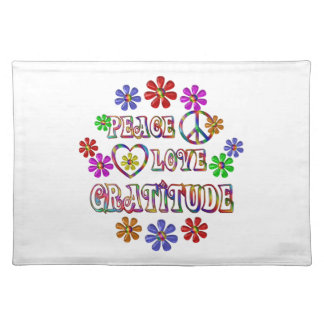 Peace Love Gratitude Placemat