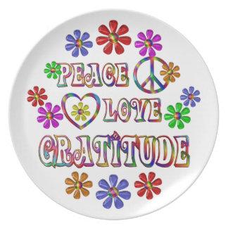 Peace Love Gratitude Plate