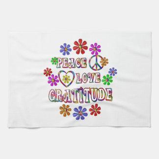Peace Love Gratitude Tea Towel