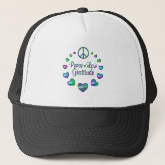 Peace Love Gratitude Trucker Hat