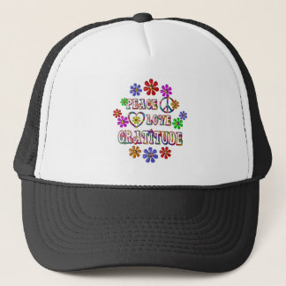 Peace Love Gratitude Trucker Hat
