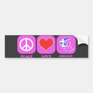 Peace Love Greece Bumper Sticker
