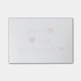 Peace Love Greyhounds Post-it Notes