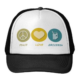 Peace Love Groceries Hat