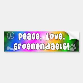 Peace Love Groenendaels Bumper Sticker