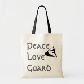 Peace Love Guard Budget Tote Bag