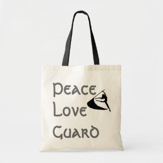 Peace Love Guard Tote Bag