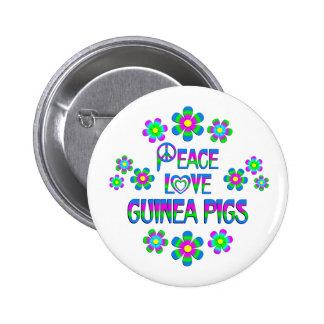 Peace Love Guinea Pigs 6 Cm Round Badge