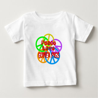 Peace Love Guinea Pigs Baby T-Shirt