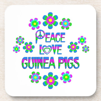 Peace Love Guinea Pigs Beverage Coasters