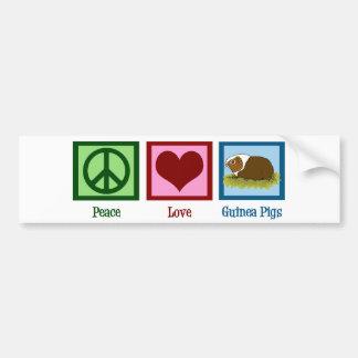 Peace Love Guinea Pigs Bumper Stickers