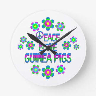 Peace Love Guinea Pigs Clock