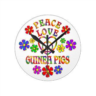 Peace Love Guinea Pigs Clocks