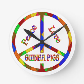 Peace Love Guinea Pigs Clocks