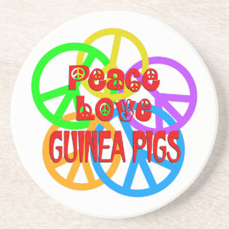 Peace Love Guinea Pigs Coaster