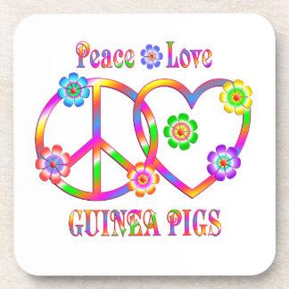 Peace Love Guinea Pigs Coaster