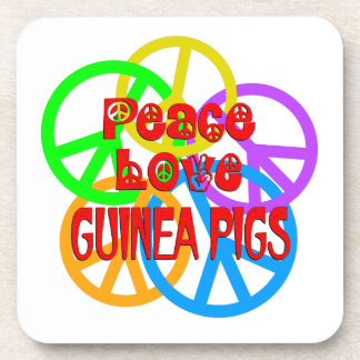 Peace Love Guinea Pigs Coasters