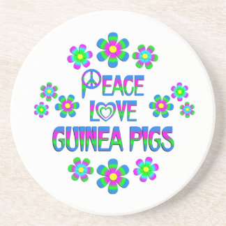 Peace Love Guinea Pigs Drink Coaster