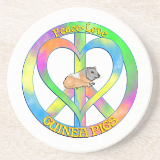 Peace Love Guinea Pigs Drink Coasters