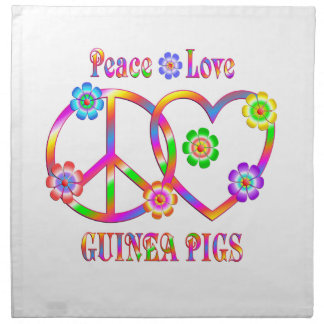 Peace Love Guinea Pigs Napkin