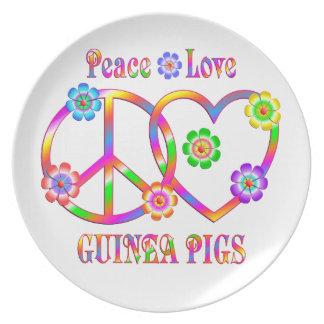 Peace Love Guinea Pigs Plate