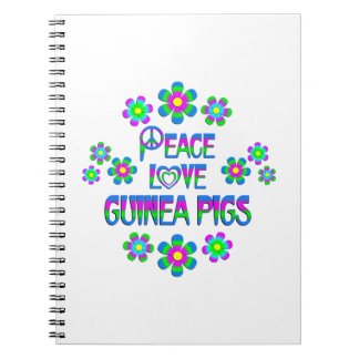 Peace Love Guinea Pigs Spiral Notebooks