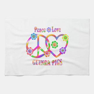 Peace Love Guinea Pigs Tea Towel