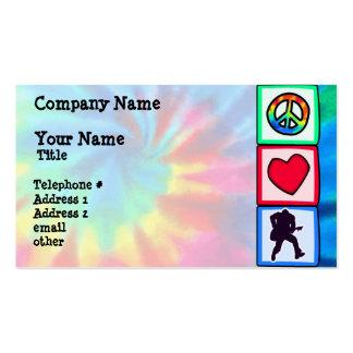 Peace, Love, Guitars Business Card Templates