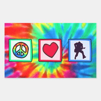 Peace, Love, Guitars Rectangle Sticker