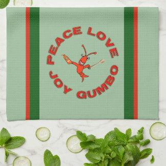 Peace Love Gumbo Crawfish Towels