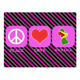 Peace Love Guyana Postcard