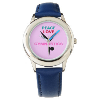 Peace Love Gymnastics Kids Adjustable Bezel Watch