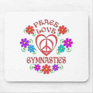 Peace Love Gymnastics Mouse Pad