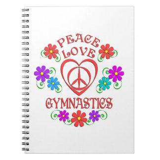 Peace Love Gymnastics Notebook