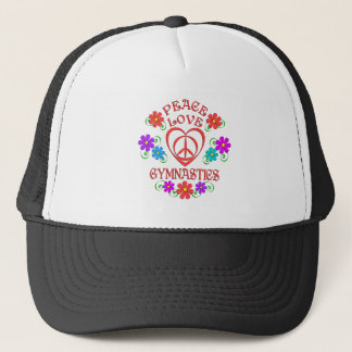 Peace Love Gymnastics Trucker Hat