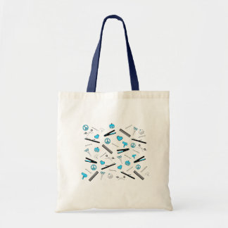 Peace, Love, & Hair Accessories (Light Blue) Tote Bag