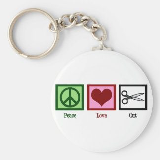 Peace Love Haircuts Key Ring