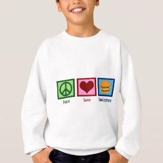 Peace Love Hamburgers Sweatshirt