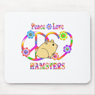 Peace Love Hamsters Mouse Pad