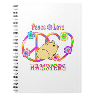 Peace Love Hamsters Notebook