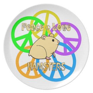 Peace Love Hamsters Plate