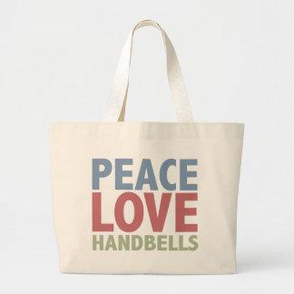 Peace Love Handbells Jumbo Tote Bag