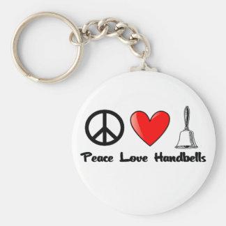 Peace, Love, Handbells Key Ring